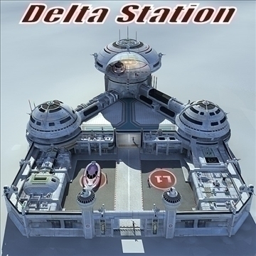 delta station 3d model 3ds max c4d obj 83938