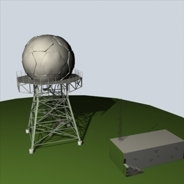 doppler radar kompleksi 3d modeli 3ds 96286