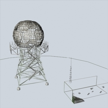 doppler radar complex 3d model 3ds 96288
