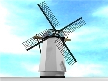 dutch windmill 3d model max 84105