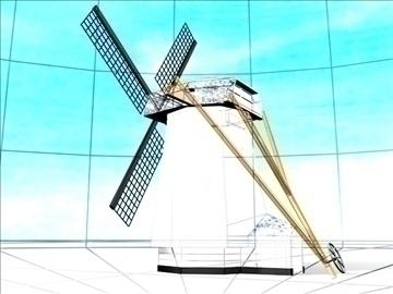 dutch windmill 3d model max 84107