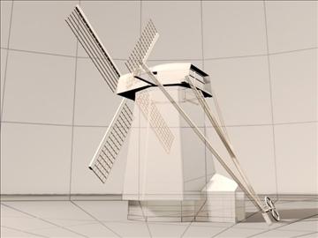dutch windmill 3d model max 84112