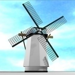 Dutch Windmill ( 62.64KB jpg by RP3D )