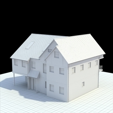 english house 3d model 3ds blend lwo lxo obj 100051