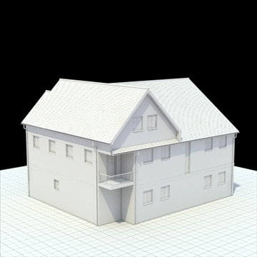english house 3d model 3ds blend lwo lxo obj 100052