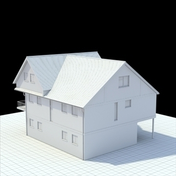 english house 3d model 3ds blend lwo lxo obj 100053