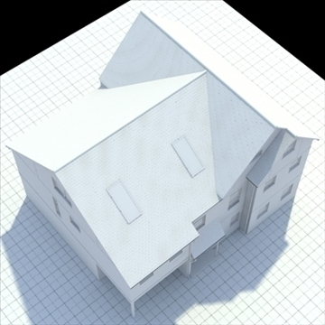 english house 3d model 3ds blend lwo lxo obj 100056