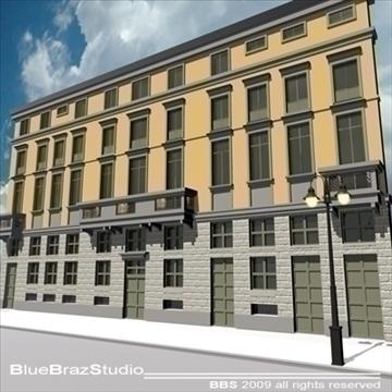 Eiropas ēkas fasāde 3d modelis 3ds dxf c4d obj 98236