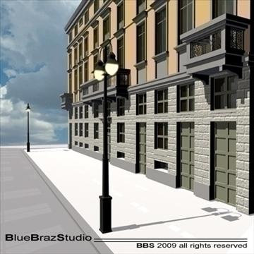 european building facade 3d model 3ds dxf c4d obj 98238