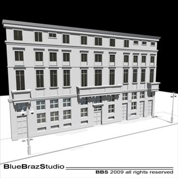 european building facade 3d model 3ds dxf c4d obj 98239