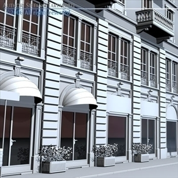 european building front 3d model 3ds dxf c4d obj 83109