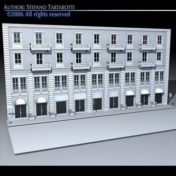 european building front 3d model 3ds dxf c4d obj 83110