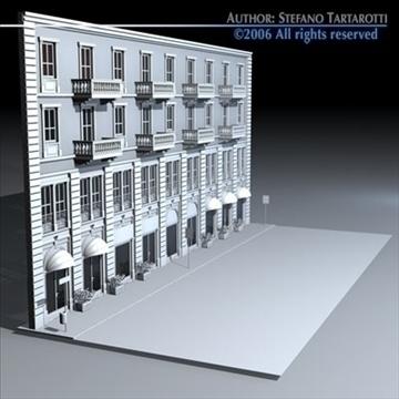 european building front 3d model 3ds dxf c4d obj 83111