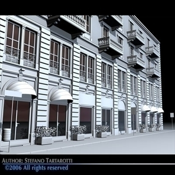 european building front 3d model 3ds dxf c4d obj 83112