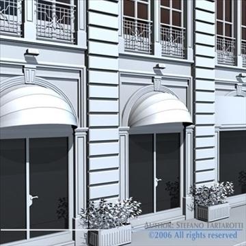 european building front 3d model 3ds dxf c4d obj 83113
