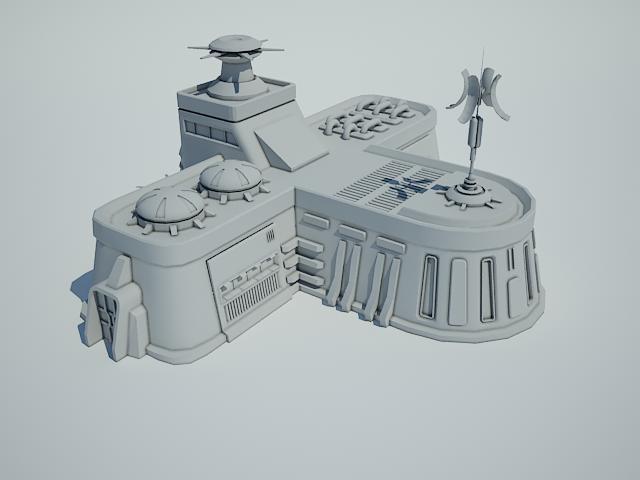 futuristic sci fi building 8 3d model 3ds max fbx obj 113610
