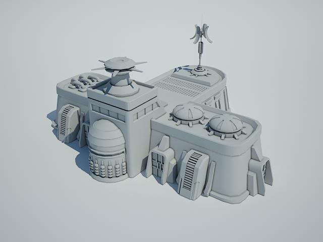 futuristic sci fi building 8 3d model 3ds max fbx obj 113611