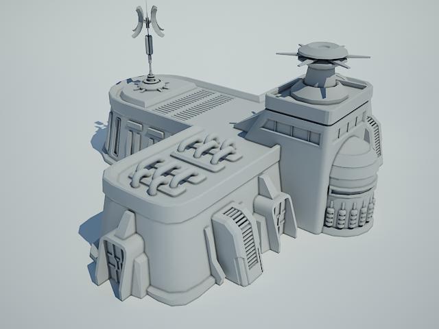 futuristic sci fi building 8 3d model 3ds max fbx obj 113612