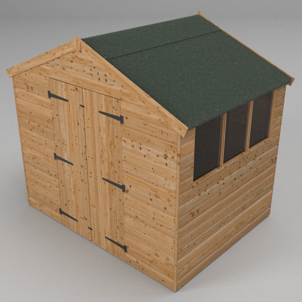 garden shed 3d model 3ds fbx skp obj 115094