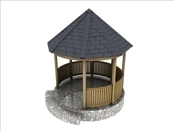 gazebo 3d model 3ds dxf c4d texture obj 110087