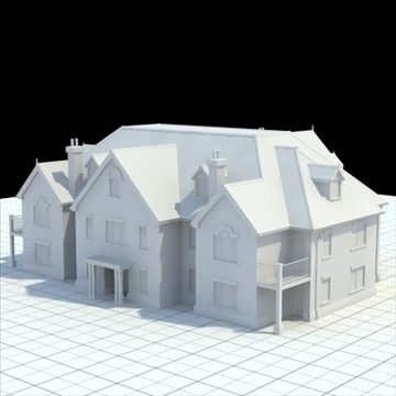 great manor 3d model 3ds blend lwo lxo obj 100036