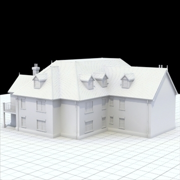 great manor 3d model 3ds blend lwo lxo obj 100037
