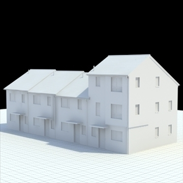 highly detailed english house 2 3d model 3ds blend lwo lxo obj 100076