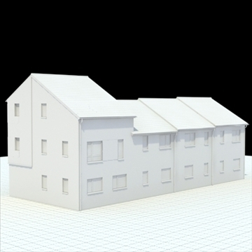highly detailed english house 2 3d model 3ds blend lwo lxo obj 100077