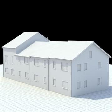 highly detailed english house 2 3d model 3ds blend lwo lxo obj 100078
