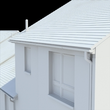 highly detailed english house 2 3d model 3ds blend lwo lxo obj 100081