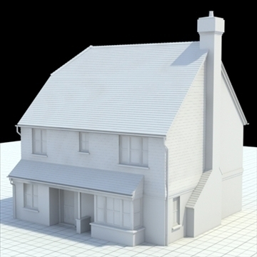 highly detailed english house 3 3d model 3ds blend lwo lxo obj 100096