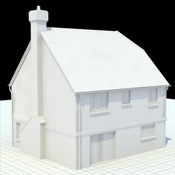 highly detailed english house 3 3d model 3ds blend lwo lxo obj 100097