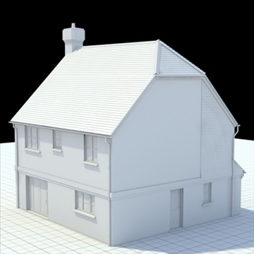 highly detailed english house 3 3d model 3ds blend lwo lxo obj 100098