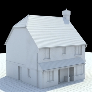 highly detailed english house 3 3d model 3ds blend lwo lxo obj 100099