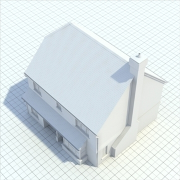 highly detailed english house 3 3d model 3ds blend lwo lxo obj 100100