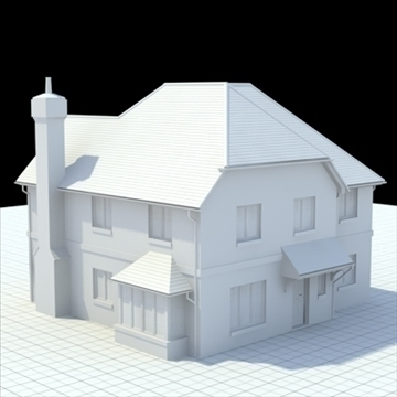 highly detailed english house 4 3d model 3ds blend lwo lxo obj 100119