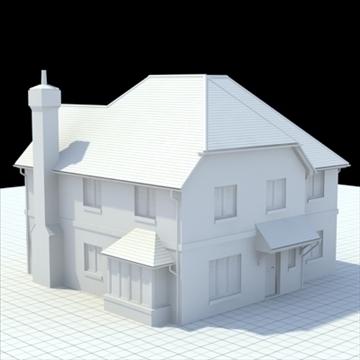 маш дэлгэрэнгүй англи байшин 4 3d загвар 3ds lwo lxo obj 100119 холих