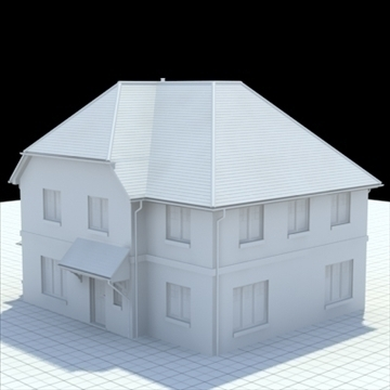 highly detailed english house 4 3d model 3ds blend lwo lxo obj 100120