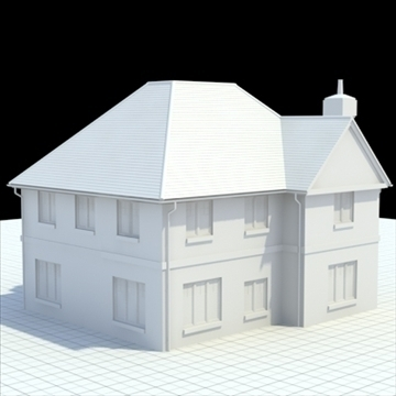 highly detailed english house 4 3d model 3ds blend lwo lxo obj 100121