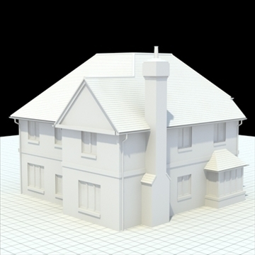 highly detailed english house 4 3d model 3ds blend lwo lxo obj 100122