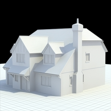 highly detailed english house 5 3d model 3ds blend lwo lxo obj 100142