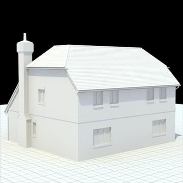 highly detailed english house 5 3d model 3ds blend lwo lxo obj 100143