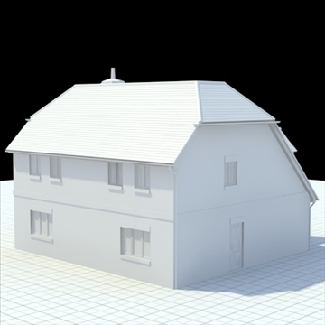 highly detailed english house 5 3d model 3ds blend lwo lxo obj 100144