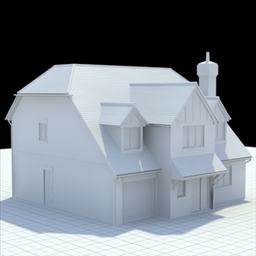 highly detailed english house 5 3d model 3ds blend lwo lxo obj 100145