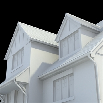 highly detailed english house 5 3d model 3ds blend lwo lxo obj 100146