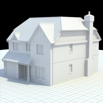 highly detailed english house 6 3d model 3ds blend lwo lxo obj 100151