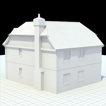 highly detailed english house 6 3d model 3ds blend lwo lxo obj 100152