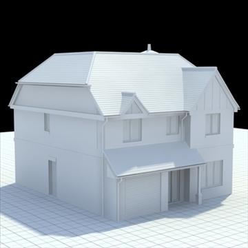 highly detailed english house 6 3d model 3ds blend lwo lxo obj 100153