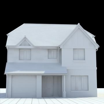 highly detailed english house 6 3d model 3ds blend lwo lxo obj 100154