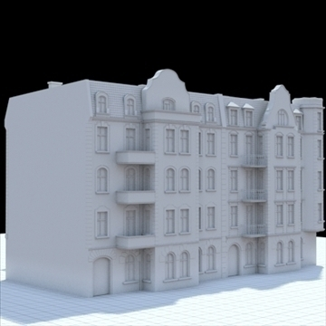 highly detailed historical tenement house. 3d model blend lwo lxo obj 101630
